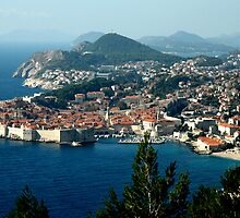OLD WALLED CITY of DUBROVNIK, CROATIA by Edward J. Laquale