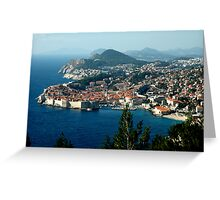 OLD WALLED CITY of DUBROVNIK, CROATIA Greeting Card