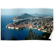 OLD WALLED CITY of DUBROVNIK, CROATIA Poster
