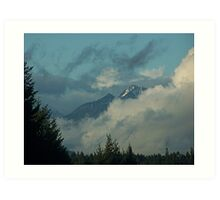 Olympic Mountains In The Clouds Art Print