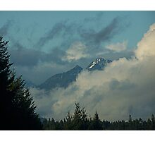 Olympic Mountains In The Clouds Photographic Print
