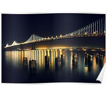 SF Bay Bridge Illuminated Poster