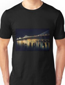 San Francisco Bay Bridge Illuminated Unisex T-Shirt