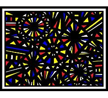 Rusche Abstract Expression Yellow Red Blue Photographic Print