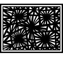 Louato Abstract Expression Black and White Photographic Print