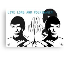 Live Long and VW - By SUMO Canvas Print