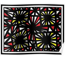 Shrum Abstract Expression Yellow Red Poster