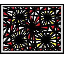 Shrum Abstract Expression Yellow Red Photographic Print