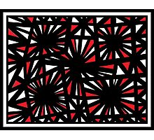 Insalaco Abstract Expression Red White Black Photographic Print