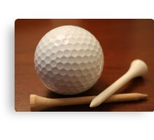 Ball and tees Canvas Print