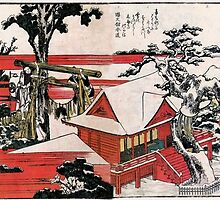 'Red House' by Katsushika Hokusai (Reproduction) by Roz Abellera Art Gallery