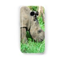 UP CLOSE THE BABY RHINO - White Rhinoceros - Ceratotherium simum  -  WIT RENOSTER Samsung Galaxy Case/Skin