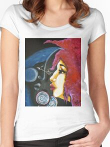 Dreams of Moon Kisses and Psychedelic Lollipops Women's Fitted Scoop T-Shirt