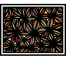 Pebbles Abstract Expression Yellow Red Black Photographic Print