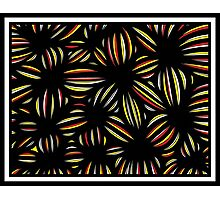 Mahmoud Abstract Expression Yellow Red Black Photographic Print
