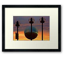 Mirrorball At Sunset Framed Print
