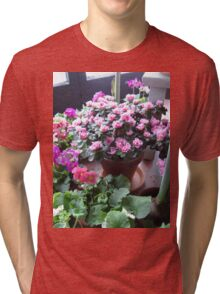 Azaleas and Primrose Tri-blend T-Shirt