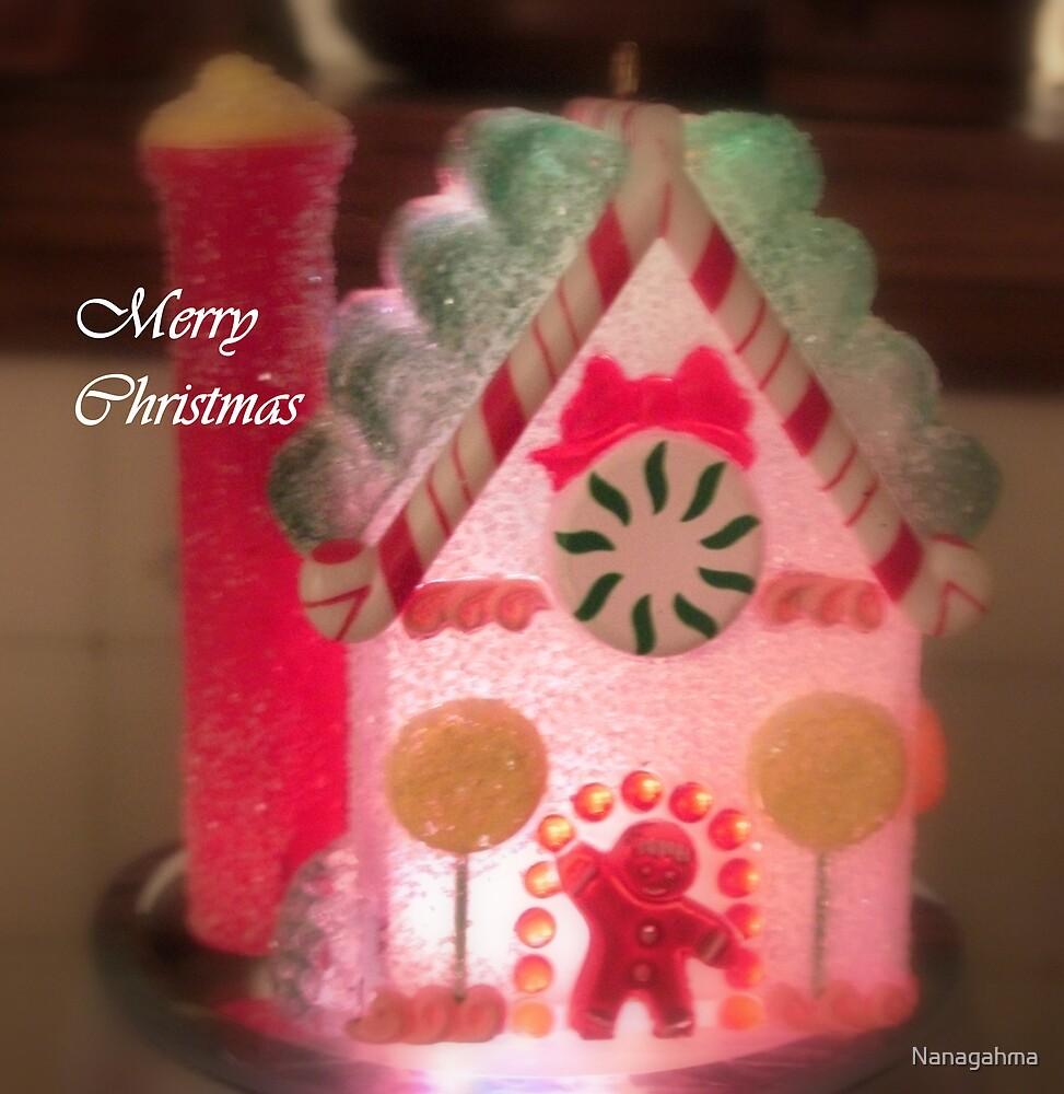 Gingerbread House, Aglow by Nanagahma