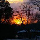 Sun Down.......a glow.... by Larry Llewellyn