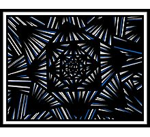 Mceachron Abstract Expression Blue White Black Photographic Print