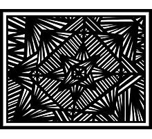 Mathie Abstract Expression Black and White Photographic Print