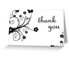 thank you : elegant flowers Greeting Card