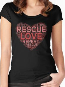 Rescue, Love, Repeat Women's Fitted Scoop T-Shirt
