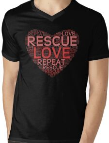 Rescue, Love, Repeat Mens V-Neck T-Shirt