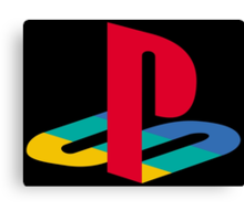 Vintage Playstation Logo Canvas Print