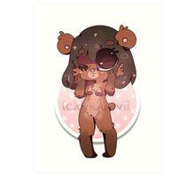 KAWAII chocovii Furry Chibi Mascot Art Print