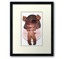 KAWAII chocovii Furry Chibi Mascot Framed Print