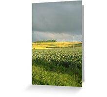 Stormy Hillside Greeting Card