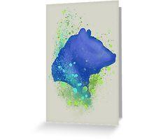 Bear Splash Greeting Card