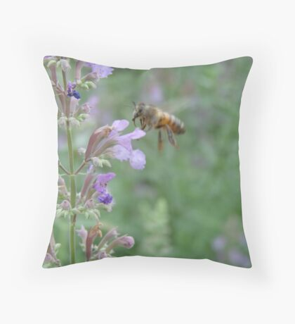 Bee & Lavender Throw Pillow