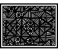 Dematos Abstract Expression Black and White Photographic Print