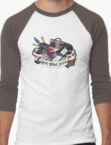Gamers Without Joysticks (Med tone) Men's Baseball ¾ T-Shirt