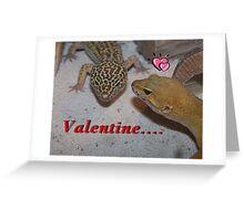 A Leopard Gecko Lizard Valentine Card Greeting Card