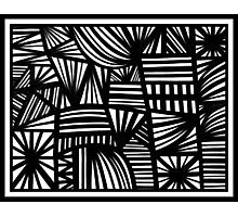 Derkas Abstract Expression Black and White Photographic Print