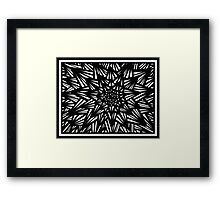 Blakeney Abstract Expression Black and White Framed Print