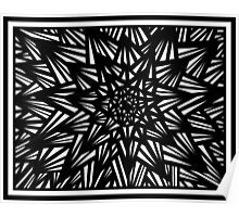 Blakeney Abstract Expression Black and White Poster