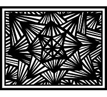 Brading Abstract Expression Black and White Photographic Print