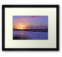 Champion Lake Sunset  Framed Print