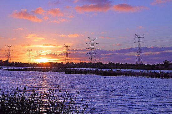 Champion Lake Sunset  by EOS20