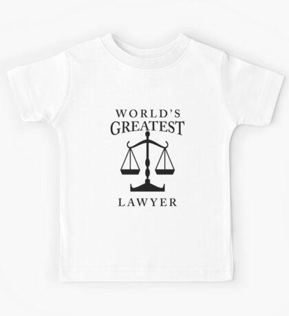 World's Greatest Lawyer Kids Tee