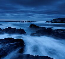 In the cool blueness of dusk by Robert Mullner