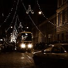 "City Life - ""Night Tram 7B"" by Denis Molodkin"