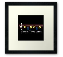 Song of Time Lords Framed Print