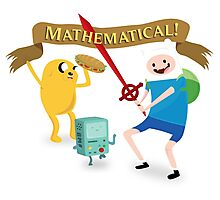 Mathematical Adventure Time! Photographic Print