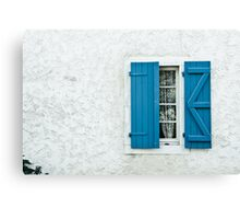 Blue Shutters Canvas Print