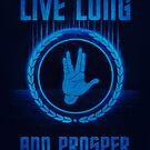 Live Long and Prosper - Spock's hand - Leonard Nimoy Geek Tribut by badbugs